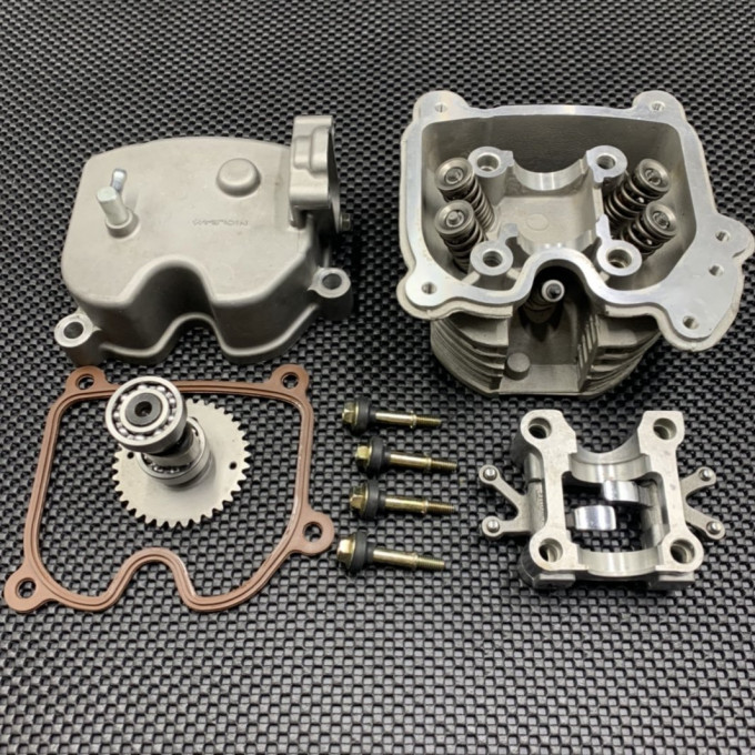 Cylinder head for GY6-125/150 with 4 valves - 0446018