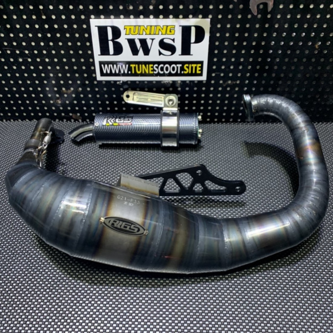Exhaust pipe for DIO50 125cc by JISO - 0222130