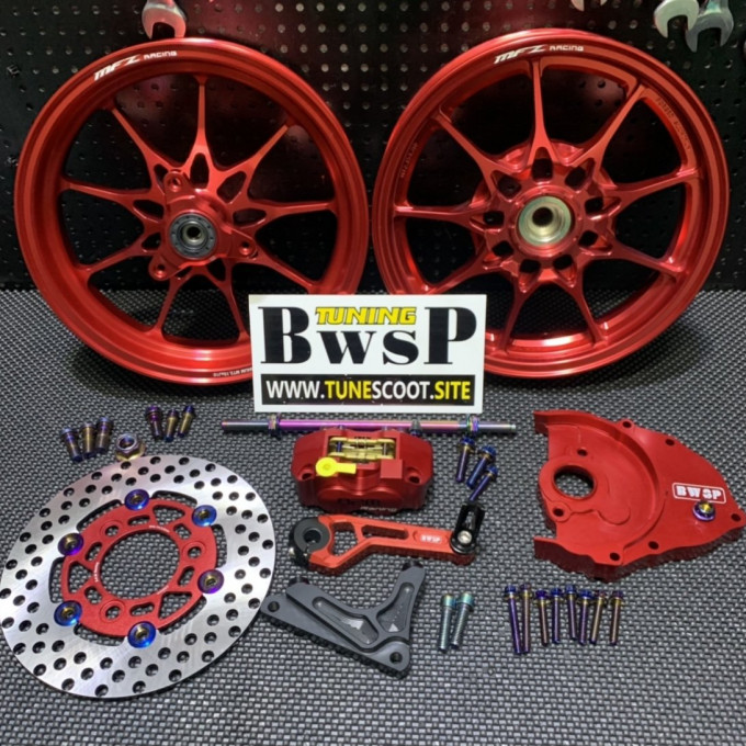 MFZ wheels combo kit for DIO50 red color -