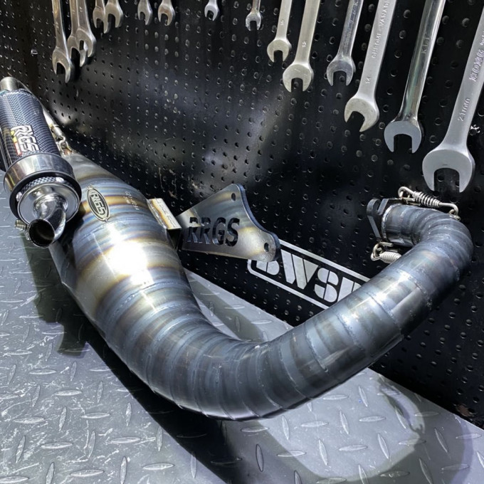 JISO exhaust pipe for DIO50 100cc - 135cc - 0222163