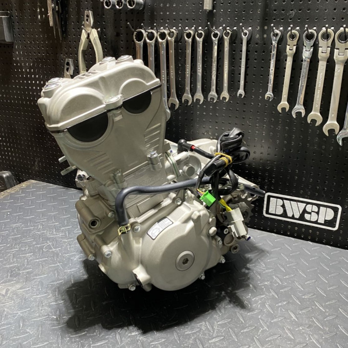 Engine NC300cc ZS177 with 4 valves twin camshaft cylinder head and 84mm piston -