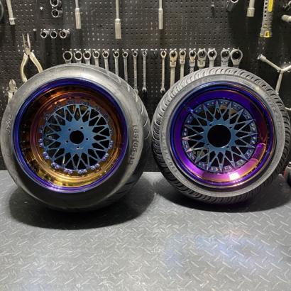 Wheels set for RUCKUS GY6-150 titanium color - 0103060