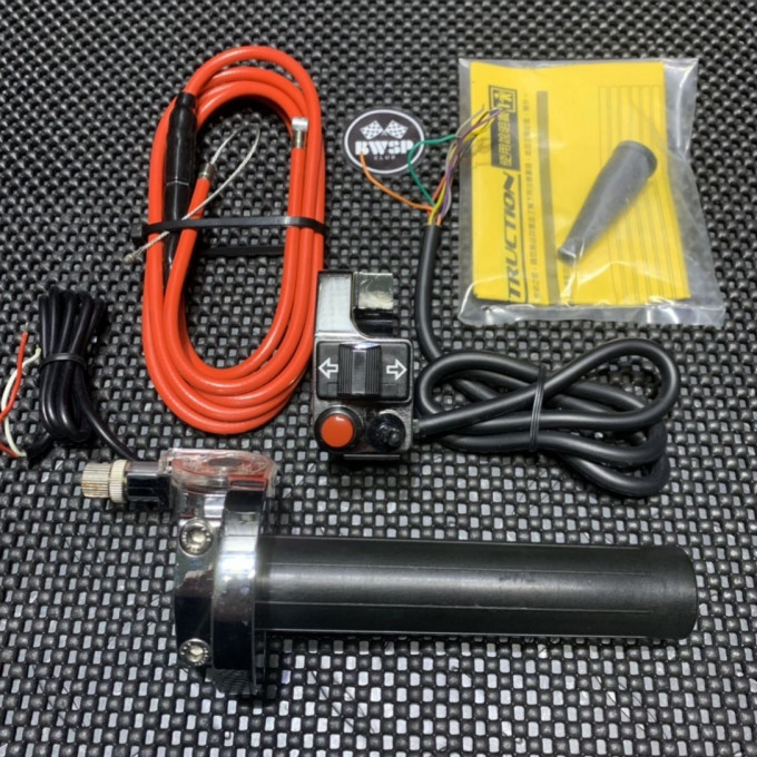 Throttle pipe with handlebar switch set - 0103062