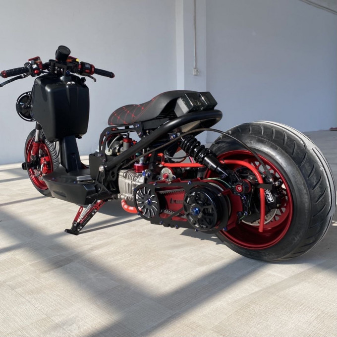 """Scooter RUCKUS 200cc """"FIRE BLADE"""" with water cooling GY6 engine - fireblade-200cc"""